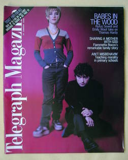 <!--1998-01-31-->Telegraph magazine - Rufus Sewell and Emily Woof cover (31
