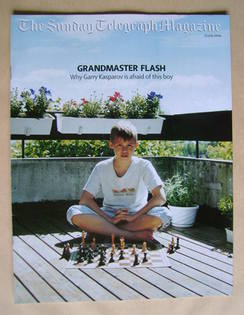 The Sunday Telegraph magazine - Magnus Carlsen cover (25 July 2004)