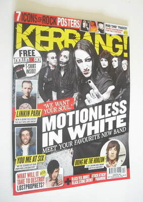 <!--2012-03-24-->Kerrang magazine - Motionless In White cover (24 March 201