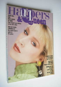 British Harpers & Queen magazine - July 1986 - Jerry Hall cover
