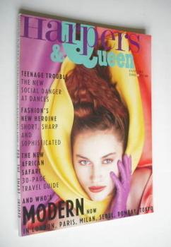 British Harpers & Queen magazine - January 1988