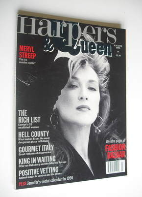 <!--1990-03-->British Harpers & Queen magazine - March 1990 - Meryl Streep