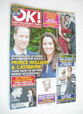 <!--2011-10-25-->OK! magazine - Prince William and Kate Middleton cover (25