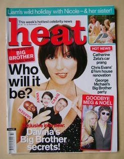Heat magazine - Davina McCall cover (16-22 September 2000 - Issue 83)