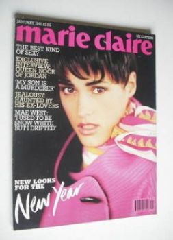 British Marie Claire magazine - January 1991 - Yasmin Le Bon cover