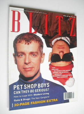<!--1991-04-->Blitz magazine - April 1991 - Pet Shop Boys cover
