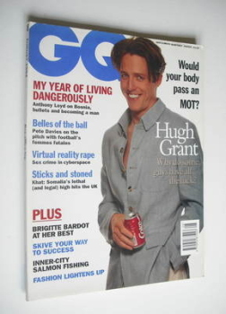 British GQ magazine - August 1994 - Hugh Grant cover