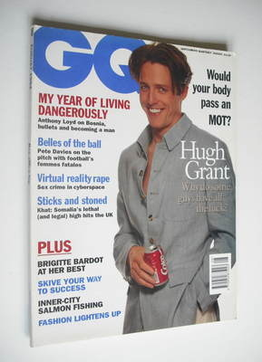 <!--1994-08-->British GQ magazine - August 1994 - Hugh Grant cover
