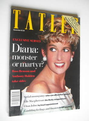 <!--1993-12-->Tatler magazine - December 1993 - Princess Diana cover