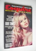 <!--1991-03-->Esquire magazine - Brigitte Bardot cover (March 1991 - Issue 1)