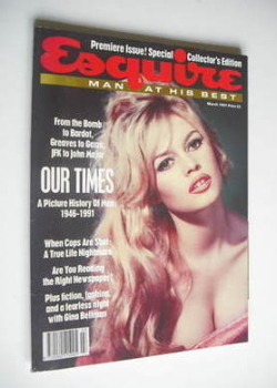 Esquire magazine - Brigitte Bardot cover (March 1991 - Issue 1)