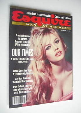<!--1991-03-->Esquire magazine - Brigitte Bardot cover (March 1991 - Issue