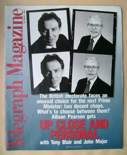 <!--1997-04-26-->Telegraph magazine - Tony Blair and John Major cover (26 A
