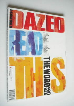 Dazed & Confused magazine (July 2000 - The Word Issue cover)