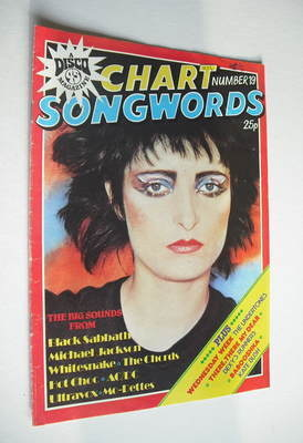 Chart Songwords magazine - No 19 - August 1980 - Siouxsie Sioux cover