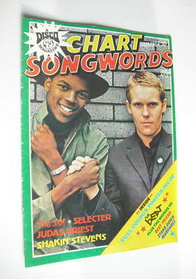 Chart Songwords magazine - No 20 - September 1980 - The Beat cover