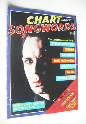 Chart Songwords magazine - No 21 - October 1980 - Gary Numan cover