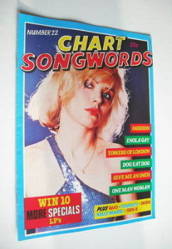 Chart Songwords magazine - No 22 - November 1980 - Blondie cover