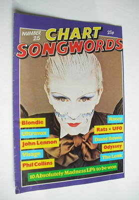Chart Songwords magazine - No 25 - February 1981 - Steve Strange cover