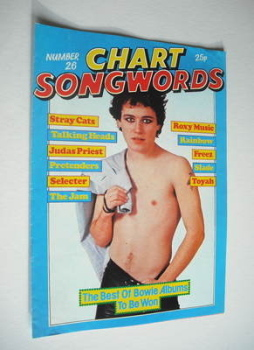 Chart Songwords magazine - No 26 - March 1981 - Adam Ant cover
