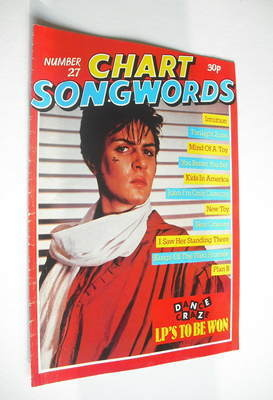 Chart Songwords magazine - No 27 - April 1981 - Simon Le Bon cover