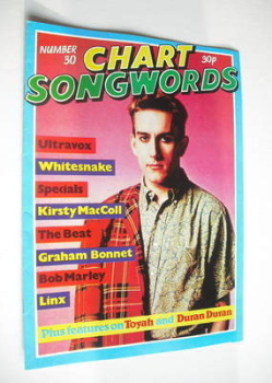 Chart Songwords magazine - No 30 - July 1981 - Terry Hall cover