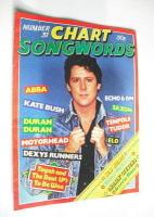 Chart Songwords magazine - No 31 - August 1981 - Shakin' Stevens cover