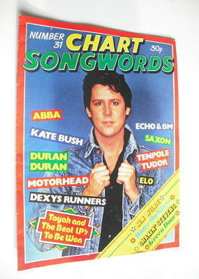 Chart Songwords magazine - No 31 - August 1981 - Shakin' Stevens cover