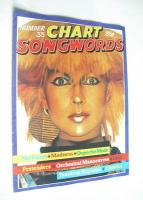 Chart Songwords magazine - No 33 - October 1981 - Toyah cover