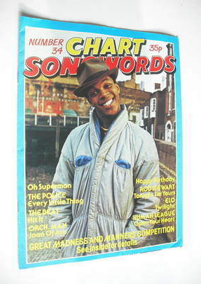 Chart Songwords magazine - No 34 - November 1981