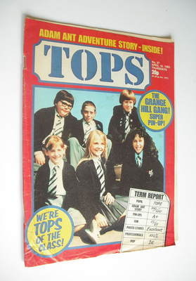 Tops magazine - 10 April 1982 - Grange Hill cover (No. 27)
