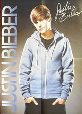Justin Bieber poster (double-sided)