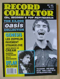 Record Collector - Liam Gallagher cover (October 1997 - Issue 218)