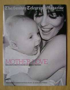 The Sunday Telegraph magazine - Elizabeth Hurley and Baby Damian cover (28