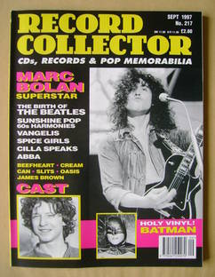 Record Collector - Marc Bolan cover (September 1997 - Issue 217)