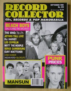 Record Collector - The Beach Boys cover (September 1998 - Issue 229)