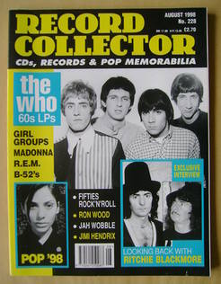 Record Collector - The Who cover (August 1998 - Issue 228)