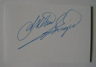 Arthur Scargill autograph