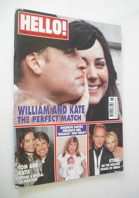 <!--2007-02-27-->Hello! magazine - Prince William and Kate Middleton cover
