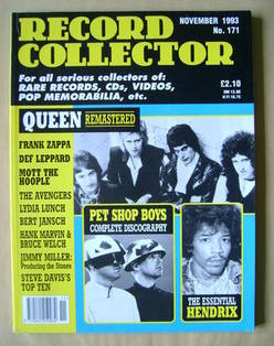 Record Collector - Queen cover (November 1993 - Issue 171)