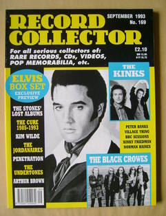 Record Collector - Elvis Presley cover (September 1993 - Issue 169)