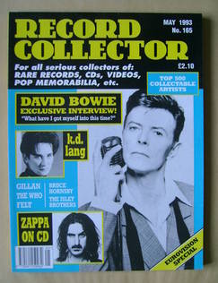 Record Collector - David Bowie cover (May 1993 - Issue 165)