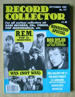 Record Collector - R.E.M. cover (September 1992 - Issue 157)