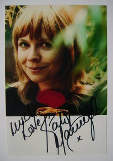 Katy Manning autograph