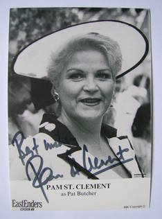 Pam St. Clement autographed photo (ex-EastEnders actor)