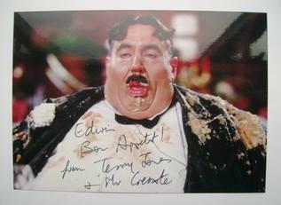 Terry Jones autograph
