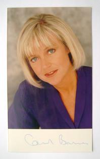 Carol Barnes autograph (hand-signed photograph)