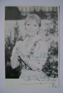 Petula Clark autographed photo