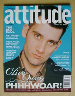 <!--1998-03-->Attitude magazine - Clive Owen cover (March 1998)