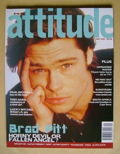 <!--1998-05-->Attitude magazine - Brad Pitt cover (May 1998)